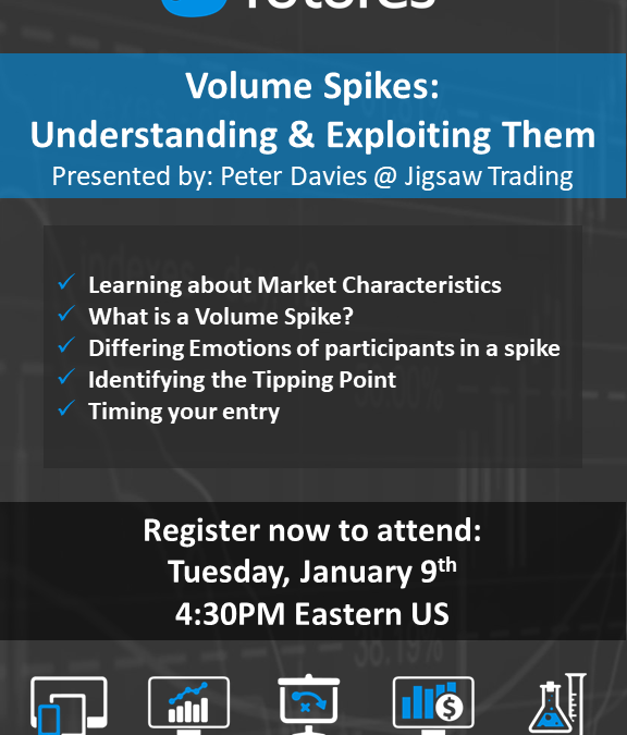 Volume Spikes – Understanding & Exploiting them – 9th Jan, 4:30pm EST